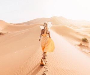 travel, blonde, and desert image