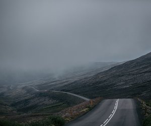dark, iceland, and road image
