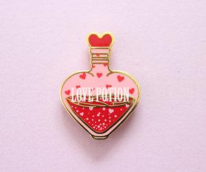 fashion, pin, and love potion image