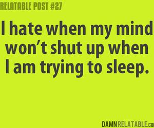 sleep, quote, and mind image