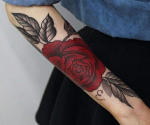 arm, design, and inked image