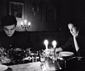 love, Alain Delon, and Romy Schneider image