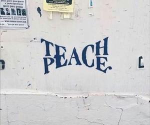 peace, teach, and art image