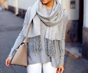 fashion, scarf, and bag image