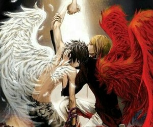 death note, L, and angel image