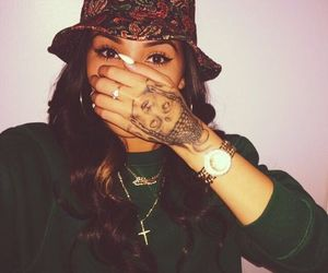 tattoo, bucket hat, and aggy image