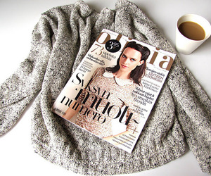 magazine, fashion, and coffee image