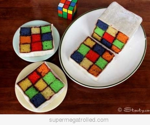 cake, cube, and food image