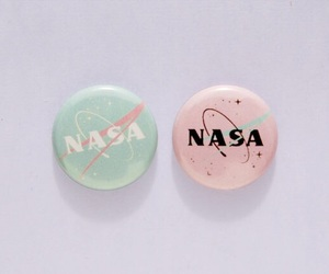 nasa, pastel, and pink image