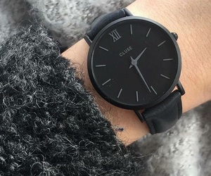 background, black, and watch image
