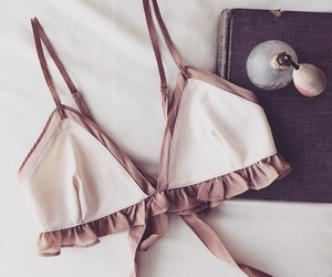 bra, lace, and underwear image