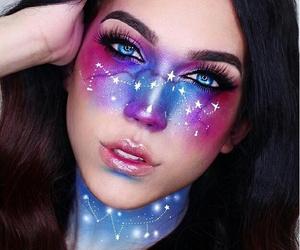 galaxy, makeup, and Halloween image