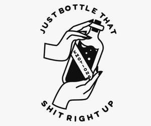emotions, quotes, and bottle image