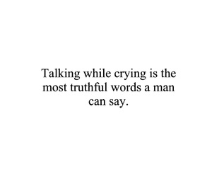 black and white, crying, and man image