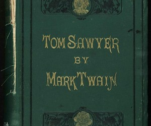 book, green, and mark twain image