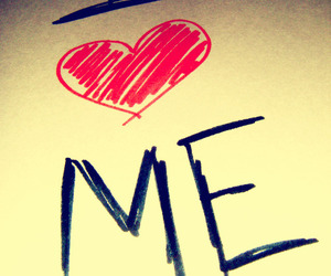 love, heart, and me image