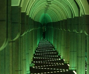 green, mirror maze, and green l8ghts image