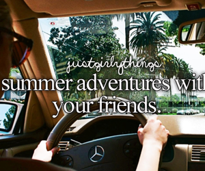 summer, friends, and adventure image