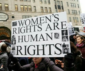 feminism, feminist, and human rights image