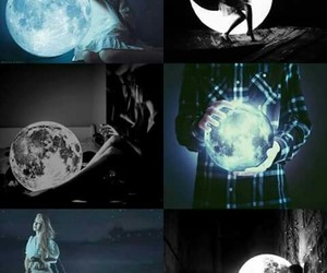 moon and girl image