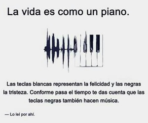 piano, frases, and music image
