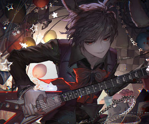 anime, art, and guitar image