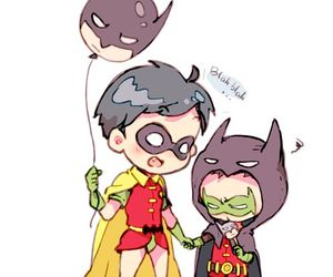 batman, damian wayne, and richard grayson image