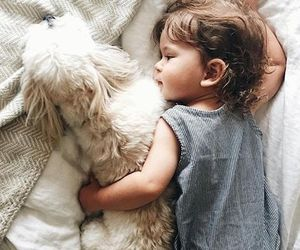 baby, dog, and kids image