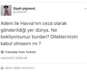 tweet, turkce, and türkçe sözler image