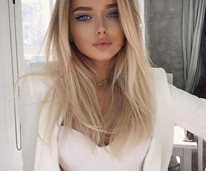 blond, hair, and girl image