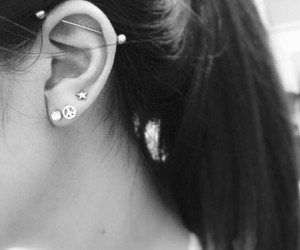 ears and piercing image