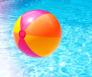 summer, ball, and pool image