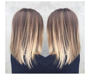 blonde, hair, and balayage image