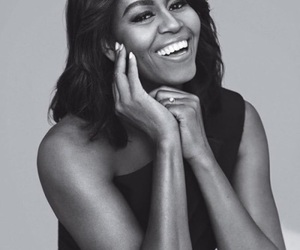 beautiful, smile, and mrs. obama image
