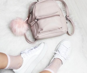 pink, backpack, and fashion image