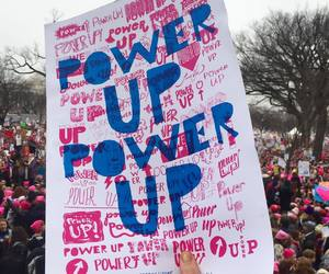 feminism, march, and power image