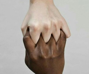 hands, white, and black image