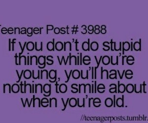 quote, young, and smile image