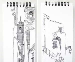 architecture, art, and sketch image