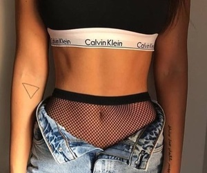 fashion, fishnets, and momjeans image