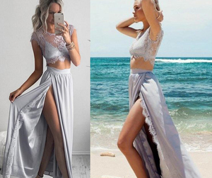 evening dress and two piece prom dresses image