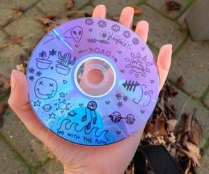 cd, grunge, and blue image