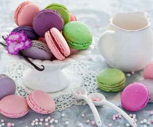 food, macarons, and dessert image