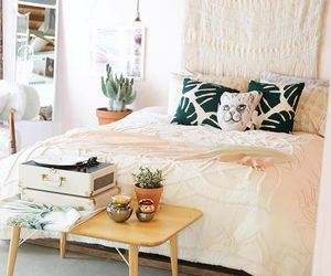 girl, plants, and bed image