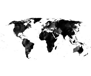 black and white, change the world, and countries image