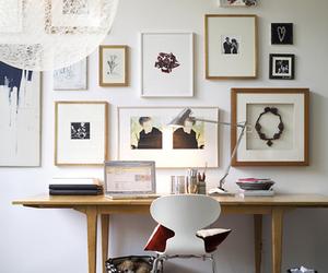 interior, desk, and decor image