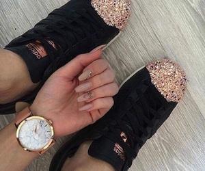 adidas, nails, and shoes image