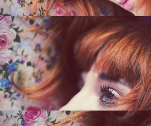 eyes and red hair image