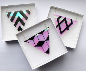 geometric, necklace, and girly image