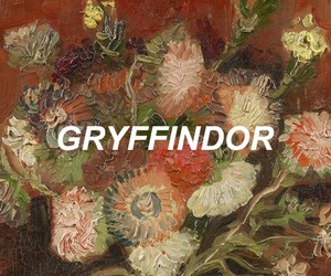 flowers, gryffindor, and art image